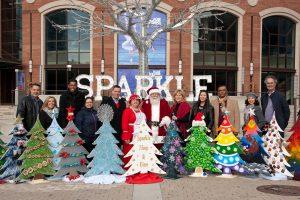 Downtown Brampton Christmas Trees