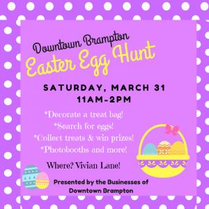 Downtown Brampton Easter Egg Hunt