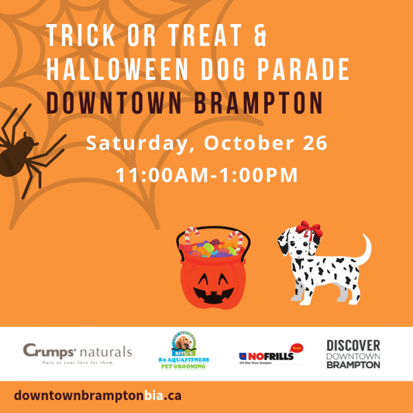 Halloween Trick or Treat October 26 in Downtown Brampton